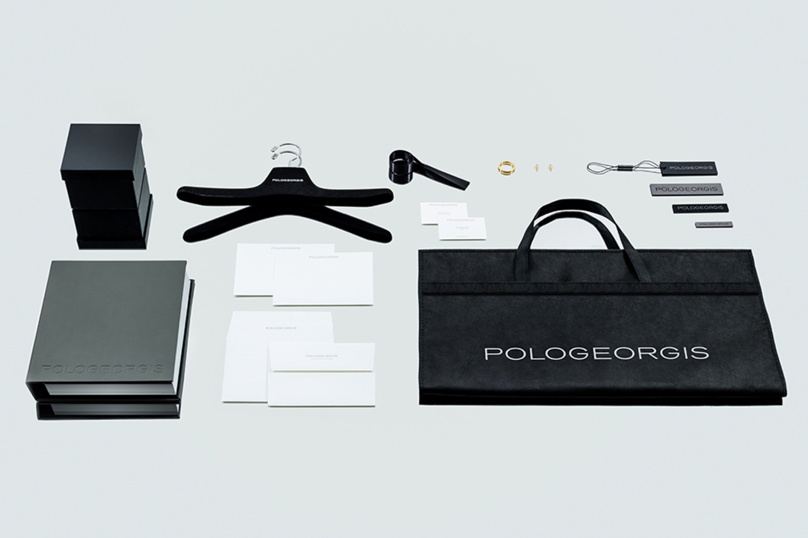 New brand logo and identity created by DTE Studio for Pologeorgis.
