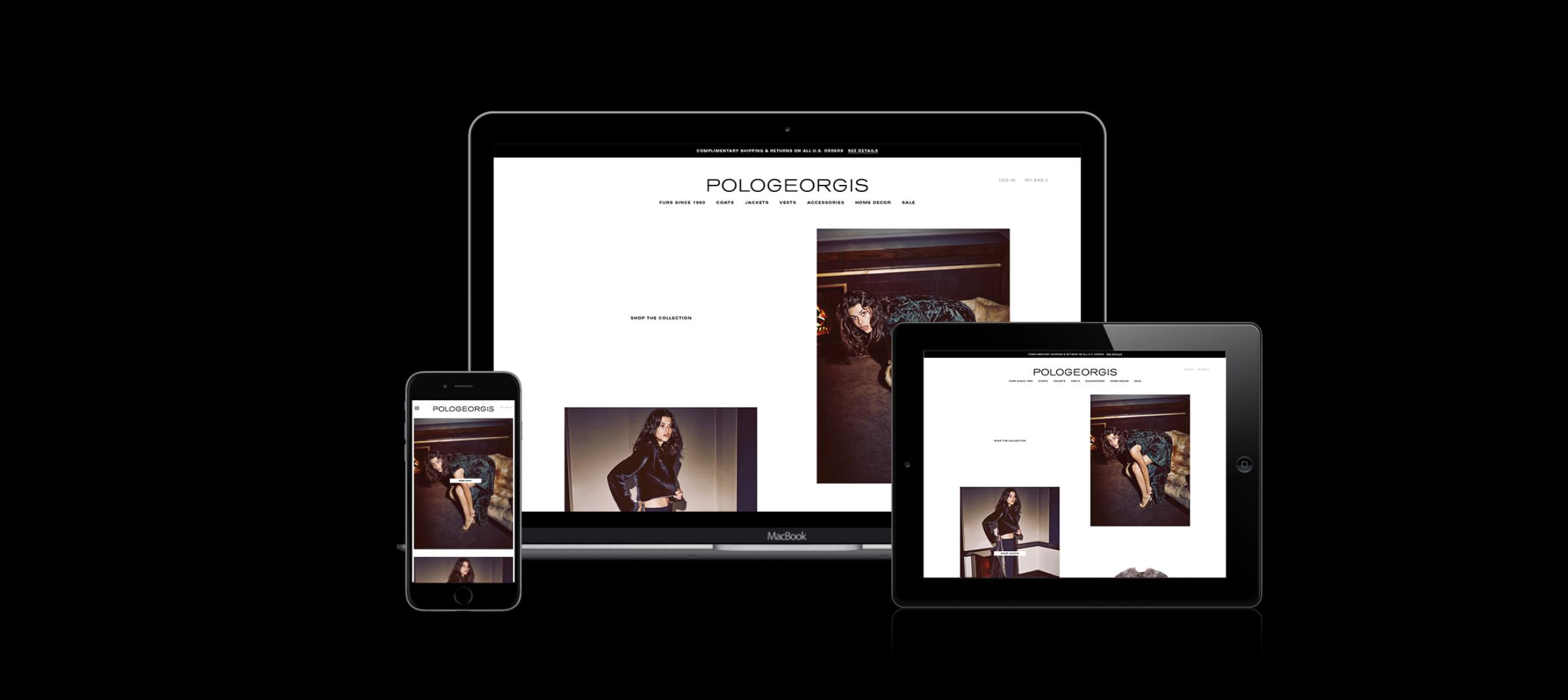 E-commerce launch for Pologeorgis by DTE Studio