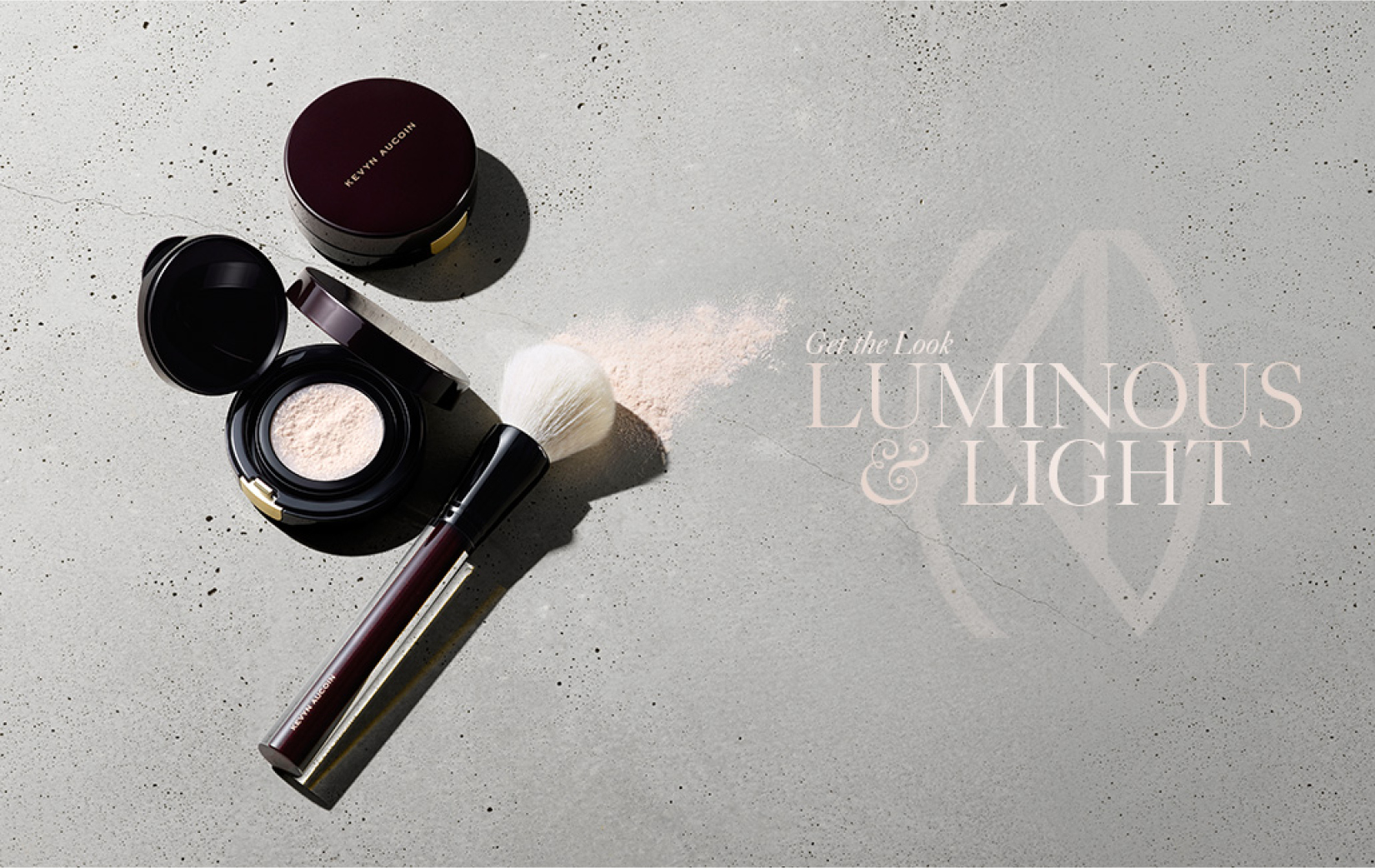 Luminous and light powder by Kevyn Aucoin that was designed and packaged by DTE.