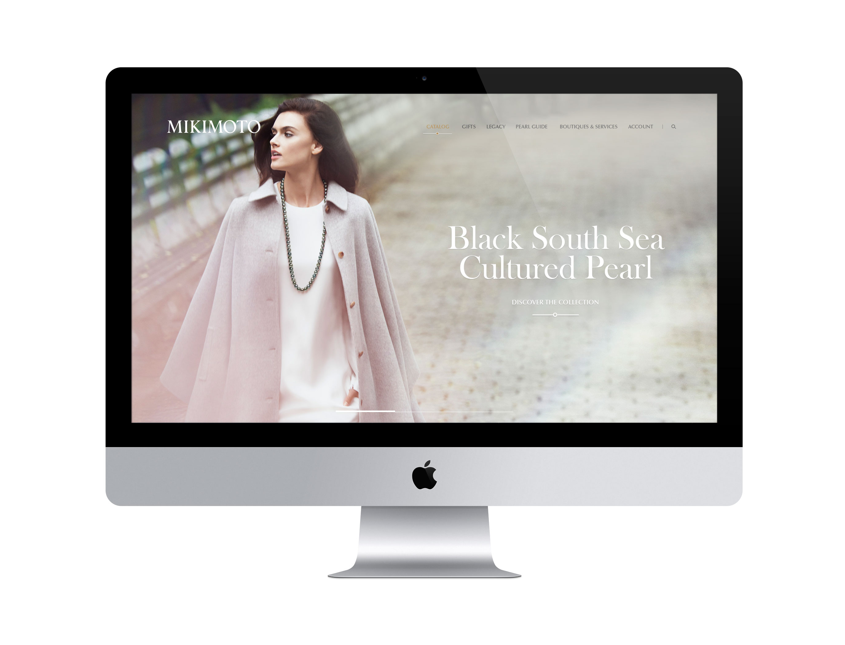 Refreshed website of Mikimoto by DTE