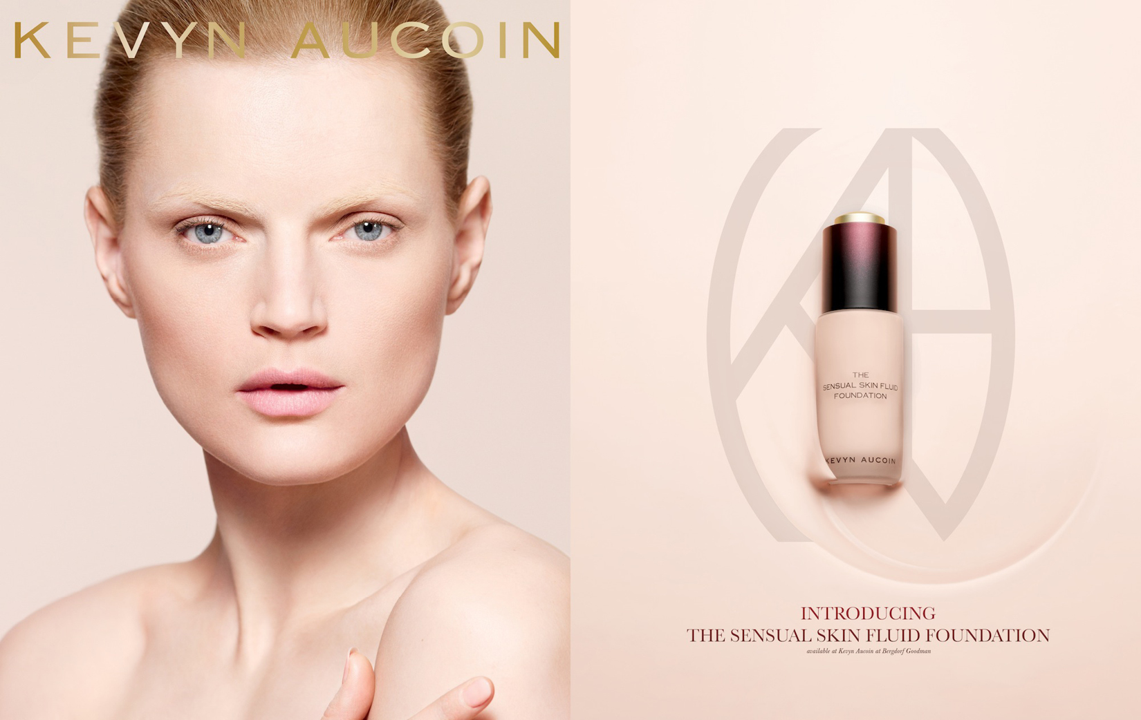 Kevyn Aucoin's new logo and skin fluid foundation package were designed by DTE.