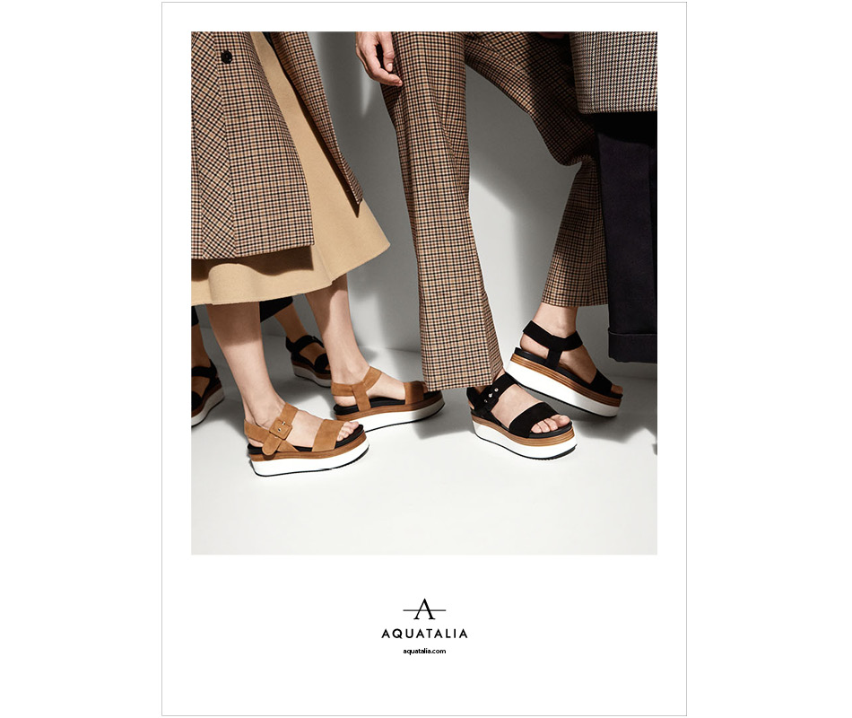 Print campaign shot of Aquatalia Spring 2016 re-launch by DTE